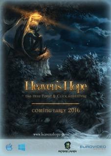 Das Bild zeigt den Flyer von Heaven´s Hope für den Release als Boxgame.