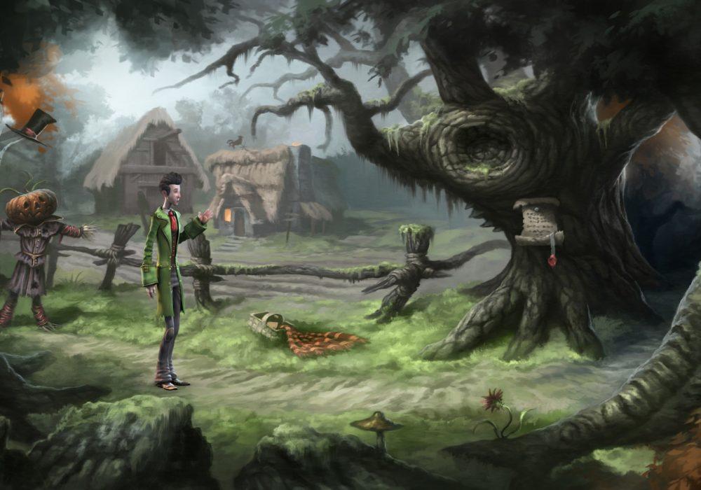 Das Bild zeigt einen Screenshot von dem Feld aus dem Point & Click Adventure Spiel Heaven´s Hope