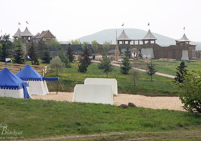 Das Bild zeigt einen Teil des Parkgeländes vom Themenpark Weltentor
