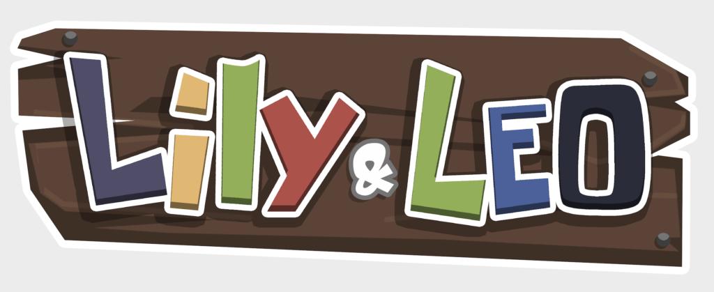 Das Bild zeigt das Logo von der Lernspiel App für Kinder Lily und Leo
