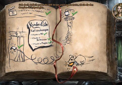 Das Bild zeigt einen Eintrag aus dem interaktiven Questenbuch von Heaven´s Hope